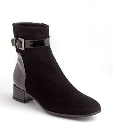 Aquatalia by Marvin K AQUATALIA Luanna Suede & Patent Leather Ankle Boots