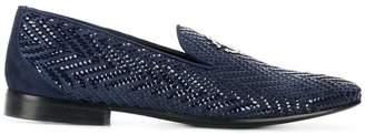 Roberto Cavalli woven slipper loafers