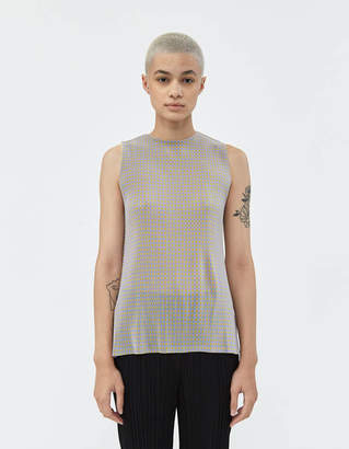 Pleats Please Issey Miyake Gingham Mist Tank in Lilac