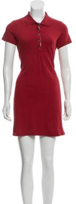 Burberry Knit Polo Dress Red Knit Polo Dress