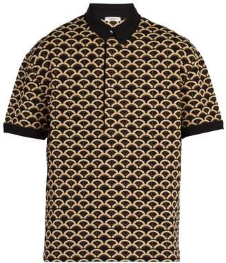 Valentino Jacquard Polo Shirt - Mens - Brown Multi