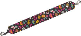 Jimmy Choo SHOULDER STRAP Cerise Mix Leopard Print Pony Shoulder Strap