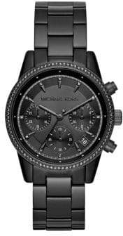 Michael Kors Ritz Crystal and Stainless Steel Bracelet Watch
