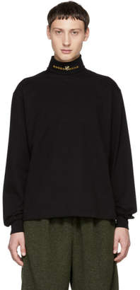 Alexander Wang Black Jersey Turtleneck Sweater