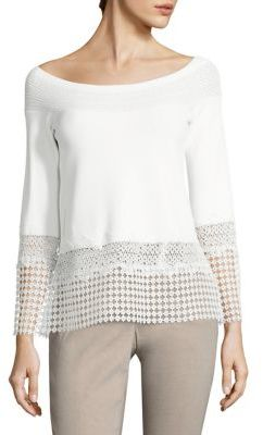 Elie Tahari Alisha Bell Sleeve Sweater $348 thestylecure.com