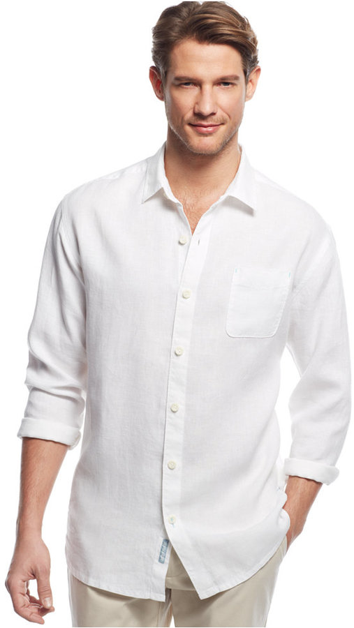 Tommy Bahama Big And Tall Sea Glass Breezer Linen Shirt