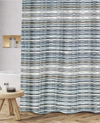 """Popular Bath Charisma Cotton Textured Stripe 72"""" x 72"""" Shower Curtain Bedding"""