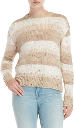 John & Jenn John + Jenn Stripe Speckled Knit Sweater