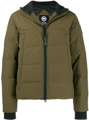 Canada Goose contrast collar padded jacket