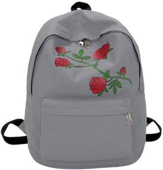 Gowind7 Backpack for Women School Backpack Canvas Preppy Chic Women Flower Embroidery Large Capacity