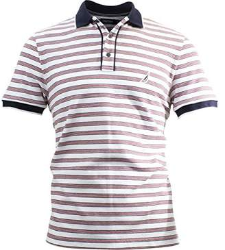 Nautica Men's Short Sleeve Classic Fit Striped Polo Shirt