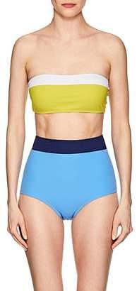Flagpole Swim Women's Lori & Arden Colorblocked High-Waist Bikini