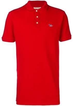 MAISON KITSUNÉ tricolour fox polo shirt