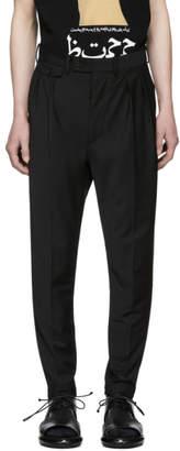 ALMOSTBLACK Black Calf Zip Tapered Trousers