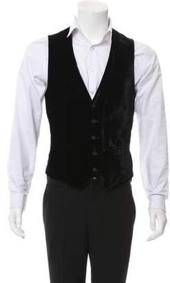 Versace Velvet Suit Vest