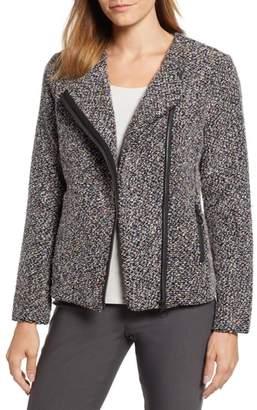 Nic+Zoe Confetti Cotton Blend Boucle Jacket