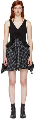Opening Ceremony Black Plaid Mix Dress