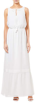 Adrianna Papell Sleeveless Tie Neck Maxi Dress, Ivory