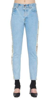 Palm Angels 'flower Tape' Jeans