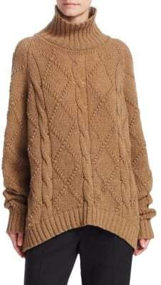 Jil Sander Wool High-Neck Knit Sweater