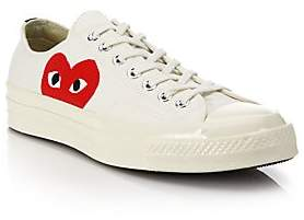 Comme des Garcons Women's Peek-A-Boo Canvas Low-Top Sneakers - Size 10 US Women's/ 8 US Men's
