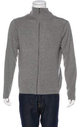 James Perse Cashmere & Wool Zip-Front Sweater