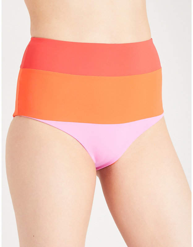 Lydia striped bikini bottoms