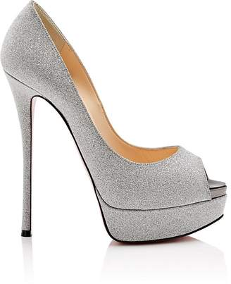 Christian Louboutin Women's Fetish Glitter Platform Pumps