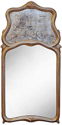 One Kings Lane Vintage Chinoiserie Silver Gilt Trumeau Mirror
