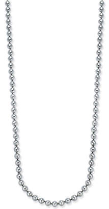 Charter Club Silver-Tone Gray Imitation Pearl Long Necklace, Created for Macy's
