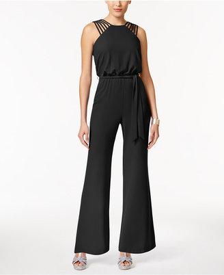 Thalia Sodi Lattice-Trim Jumpsuit, Created for Macy's $99.50 thestylecure.com