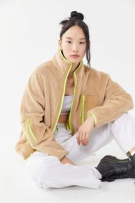 iets frans... Iets frans... Fleece Neon Trim Zip-Front Jacket