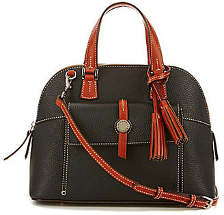 Dooney & Bourke Cambridge Collection Tasseled Zip Satchel $229.60 thestylecure.com