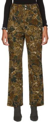 Heron Preston Brown Camo Lef Cargo Trousers