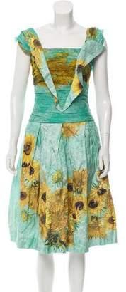 Rodarte A-Line Floral Dress