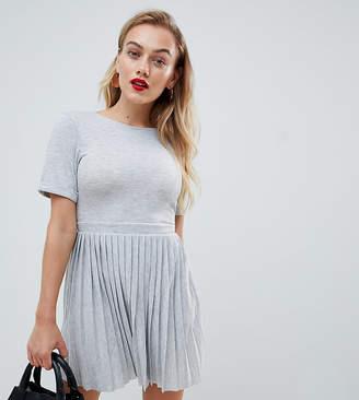 Asos DESIGN Petite pleated skirt mini dress