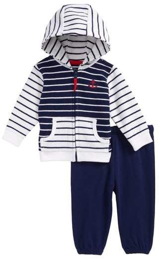 Stripe Mix French Terry Jacket & Pants Set