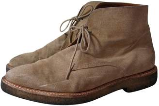 Sandro Camel Leather Boots