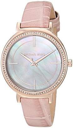 Michael Kors Womens Analogue Quartz Watch with Leather Strap MK2663