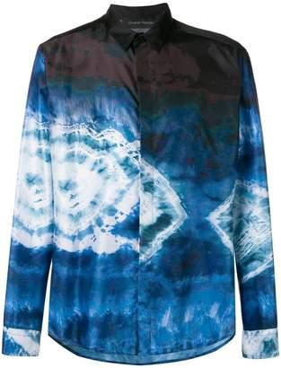 Christian Pellizzari tie-dye print shirt