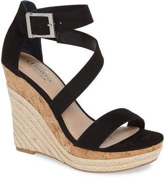 Charles by Charles David Adrielle Asymmetrical Platform Wedge Sandal