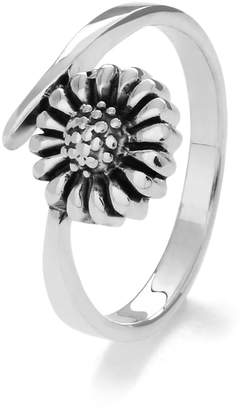 John Greed Sterling Silver Sunflower Ring