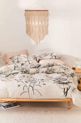 Makenna Etched Floral Jersey Duvet Cover