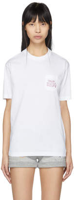 DSQUARED2 White Embroidered Diana T-Shirt