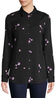 Equipment Long-Sleeve Floral Shirt