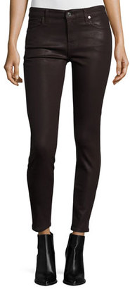 7 For All Mankind The Ankle Skinny Coated Jeans, Plum $199 thestylecure.com