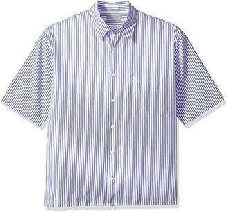 Vince Men's Striped Half Sleeve Shirt
