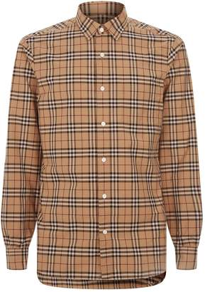 Burberry Check Print Long Sleeve Shirt
