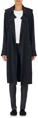 Helmut Lang Women's Crepe Belted Trench Coat $520 thestylecure.com