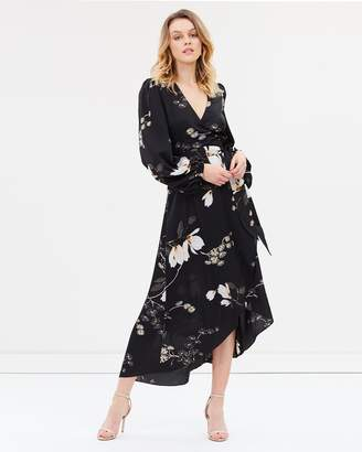 Shona Joy Wrap Midi Dress